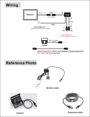 Backup Cam and Monitor Wiring Diagram