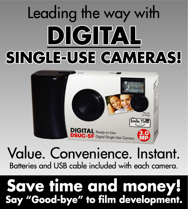 Digital Single-Use Cameras - Value. Convenience. Instant.