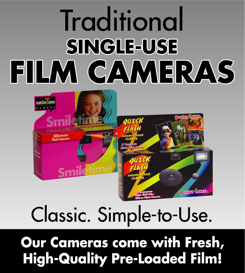 Traditional Single-Use Film Cameras