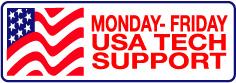 Monday-Friday USA Tech Support